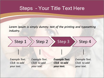 Sensual brunette PowerPoint Template - Slide 4