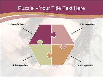 Sensual brunette PowerPoint Template - Slide 40