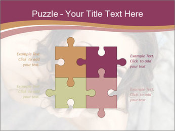 Sensual brunette PowerPoint Template - Slide 43