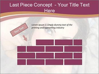 Sensual brunette PowerPoint Template - Slide 46