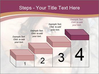 Sensual brunette PowerPoint Template - Slide 64