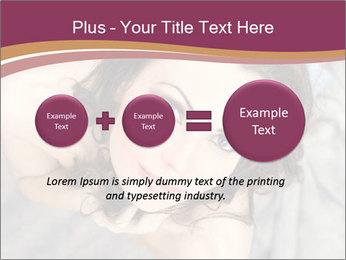 Sensual brunette PowerPoint Template - Slide 75