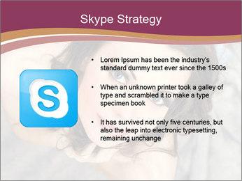 Sensual brunette PowerPoint Template - Slide 8