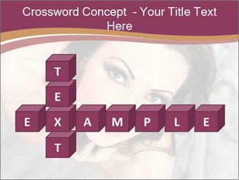 Sensual brunette PowerPoint Template - Slide 82