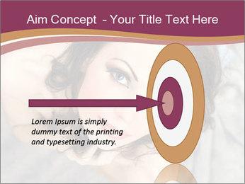 Sensual brunette PowerPoint Template - Slide 83