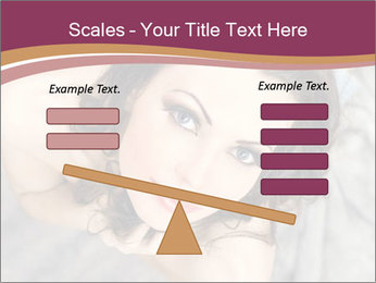 Sensual brunette PowerPoint Template - Slide 89