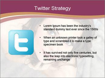 Sensual brunette PowerPoint Template - Slide 9