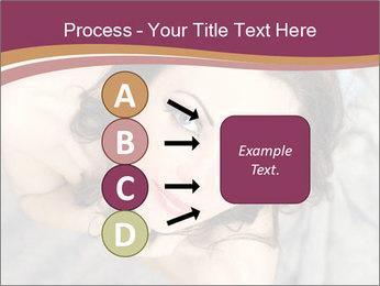 Sensual brunette PowerPoint Template - Slide 94