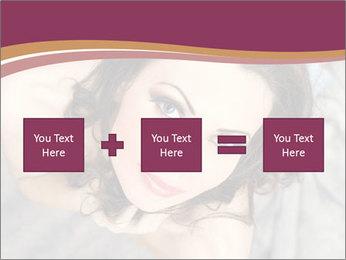 Sensual brunette PowerPoint Template - Slide 95