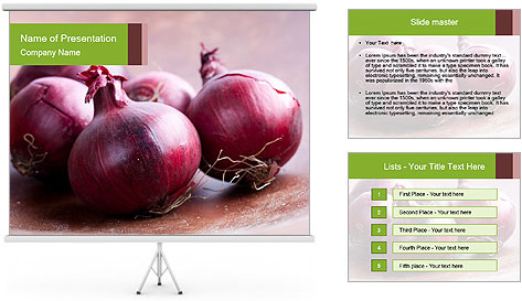 Fresh red onions PowerPoint Template