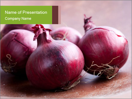 Fresh red onions PowerPoint Templates