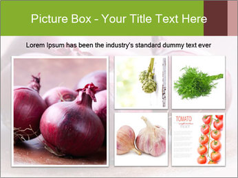 Fresh red onions PowerPoint Templates - Slide 19