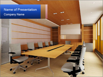 Conference room PowerPoint Template - Slide 1