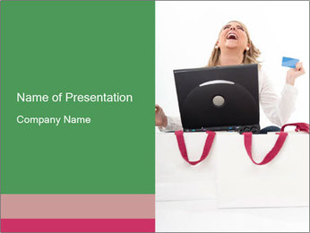 Exstatic young blond PowerPoint Template