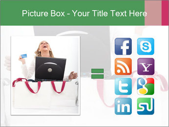 Exstatic young blond PowerPoint Template - Slide 21