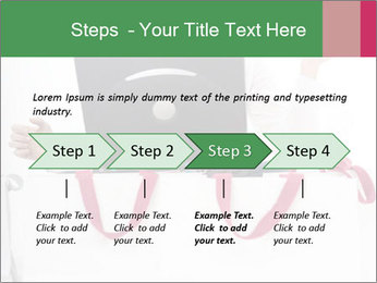 Exstatic young blond PowerPoint Template - Slide 4
