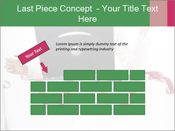 Exstatic young blond PowerPoint Template - Slide 46