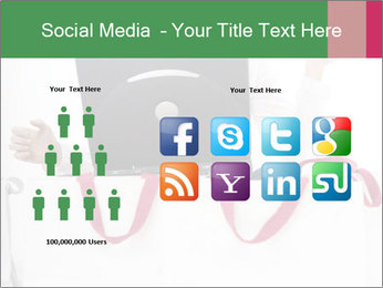 Exstatic young blond PowerPoint Template - Slide 5