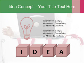Exstatic young blond PowerPoint Templates - Slide 80