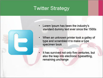 Exstatic young blond PowerPoint Template - Slide 9