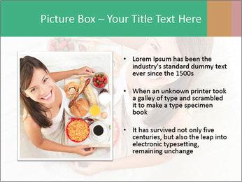 Woman having breakfast PowerPoint Templates - Slide 13