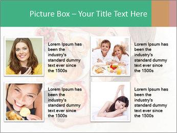 Woman having breakfast PowerPoint Templates - Slide 14