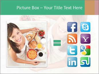 Woman having breakfast PowerPoint Templates - Slide 21