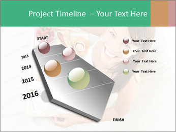 Woman having breakfast PowerPoint Templates - Slide 26