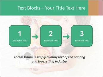 Woman having breakfast PowerPoint Templates - Slide 71