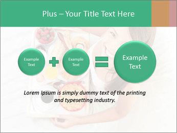 Woman having breakfast PowerPoint Templates - Slide 75