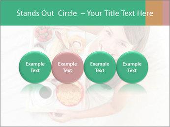 Woman having breakfast PowerPoint Templates - Slide 76