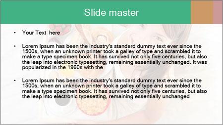 Woman having breakfast PowerPoint Template - Slide 2
