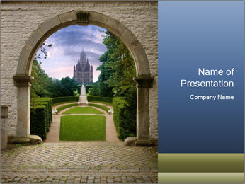 Castle PowerPoint Template - Slide 1
