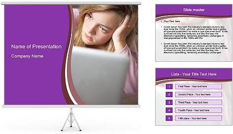 Teenage Girl PowerPoint Template