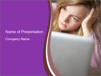 Teenage Girl PowerPoint Templates - Slide 1
