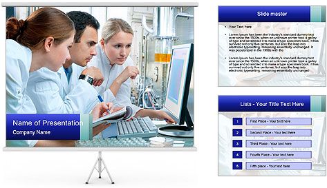 The laboratory PowerPoint Template