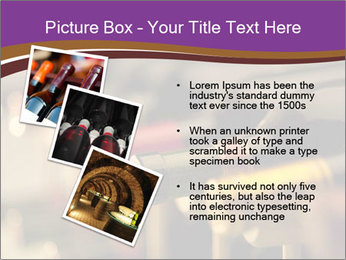 Red wine bottles PowerPoint Template - Slide 17