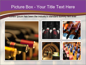 Red wine bottles PowerPoint Template - Slide 19