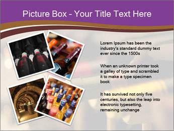 Red wine bottles PowerPoint Template - Slide 23