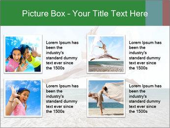 Woman jumping PowerPoint Templates - Slide 14
