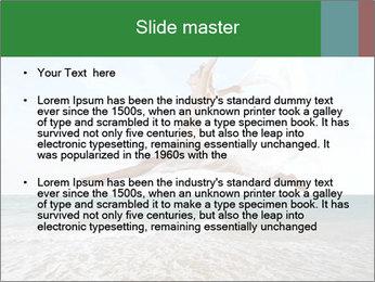 Woman jumping PowerPoint Templates - Slide 2