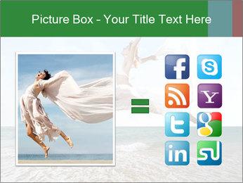 Woman jumping PowerPoint Templates - Slide 21