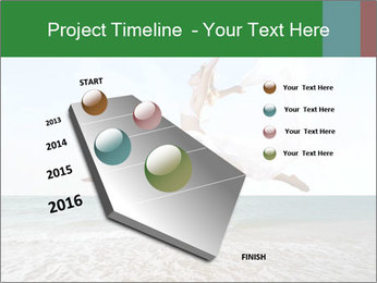Woman jumping PowerPoint Templates - Slide 26