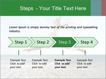 Woman jumping PowerPoint Templates - Slide 4