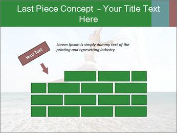Woman jumping PowerPoint Templates - Slide 46