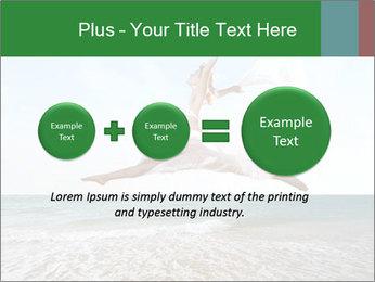 Woman jumping PowerPoint Templates - Slide 75