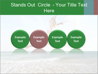 Woman jumping PowerPoint Templates - Slide 76
