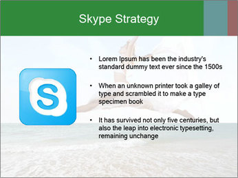 Woman jumping PowerPoint Templates - Slide 8