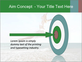 Woman jumping PowerPoint Templates - Slide 83