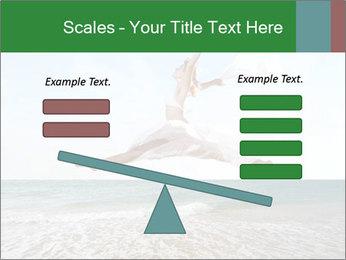 Woman jumping PowerPoint Templates - Slide 89